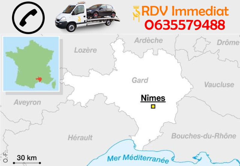 Remorquage automobiles à Nîmes